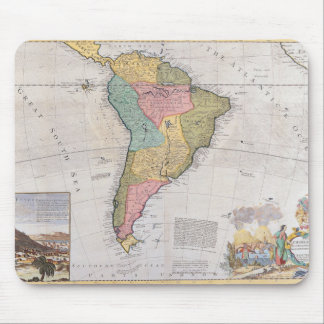 Map of South America 3 Mouse Pad