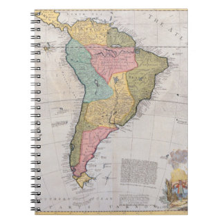 Map of South America 3 Notebook