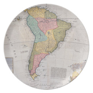 Map of South America 3 Plate
