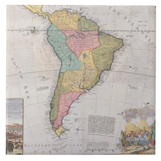 Map of South America 3 Tile