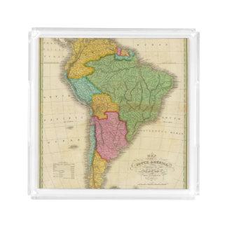 Map of South America 4 Acrylic Tray