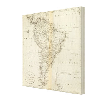 Map of South America 4 Canvas Print