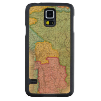 Map of South America 4 Carved Maple Galaxy S5 Case