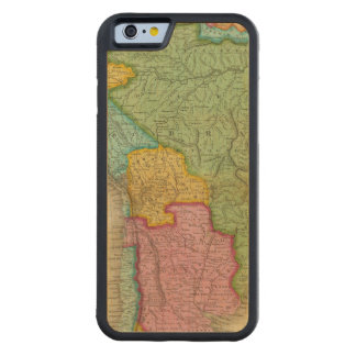 Map of South America 4 Carved® Maple iPhone 6 Bumper Case