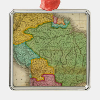 Map of South America 4 Christmas Ornament