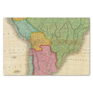 Map of South America 4 Tissue Paper