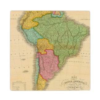 Map of South America 4 Wood Coaster