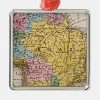 Map of South America 5 Christmas Ornament