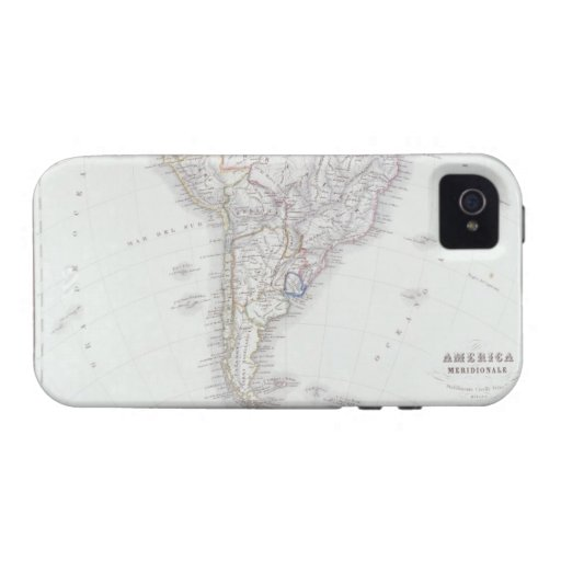 Map of South America iPhone 4 Cover
