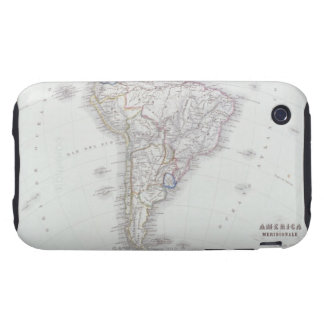 Map of South America Tough iPhone 3 Cases