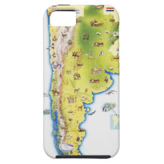 Map of South America iPhone 5 Cover