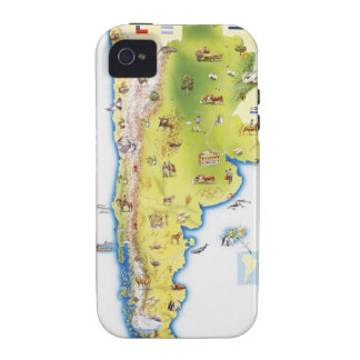 Map of South America Case-Mate iPhone 4 Cover