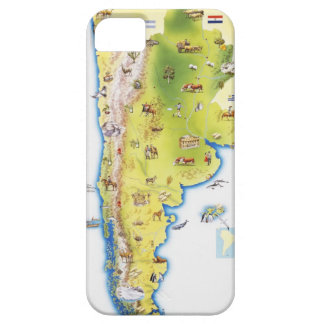 Map of South America Case For The iPhone 5
