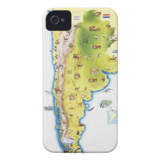 Map of South America Case-Mate iPhone 4 Cases