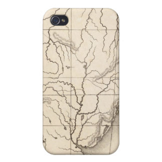 Map of South America Cases For iPhone 4