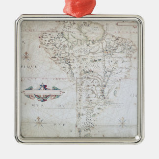 Map of South America Christmas Ornament