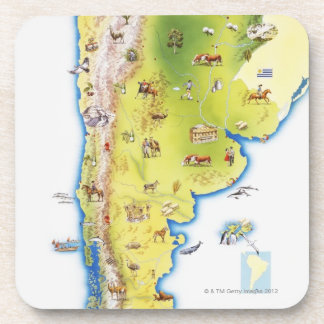 Map of South America Coaster