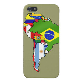 Map of South America Country flags case Cases For iPhone 5