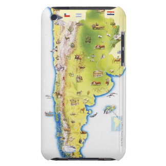Map of South America iPod Touch Cover