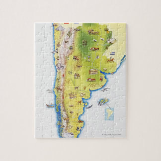 Map of South America Jigsaw Puzzle