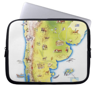 Map of South America Laptop Sleeve
