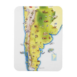 Map of South America Magnet