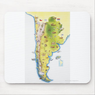 Map of South America Mouse Mat