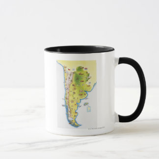 Map of South America Mug