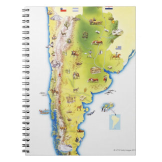 Map of South America Notebook