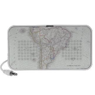 Map of South America Mini Speakers