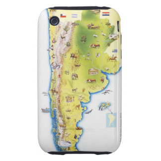 Map of South America Tough iPhone 3 Covers