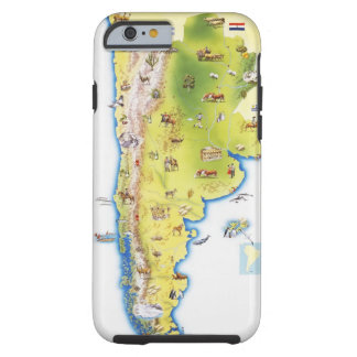 Map of South America Tough iPhone 6 Case