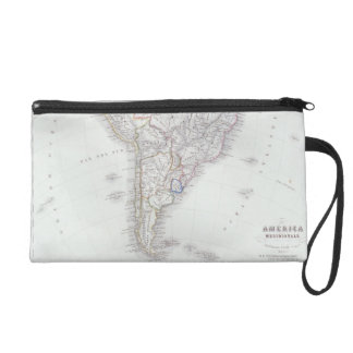 Map of South America Wristlet