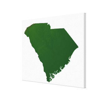 Map of South Carolina Canvas Print