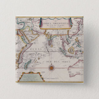 Map of South East Asia 15 Cm Square Badge