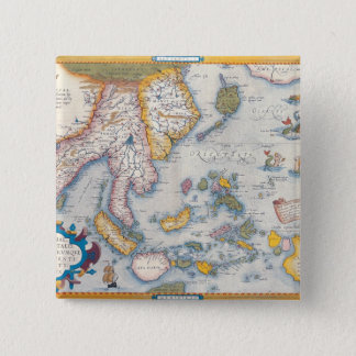 Map of South East Asia 2 15 Cm Square Badge