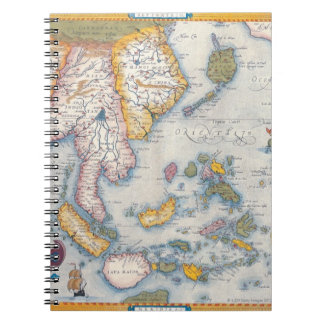 Map of South East Asia 2 Spiral Notebook