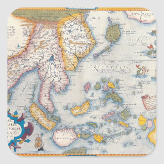 Map of South East Asia 2 Square Sticker