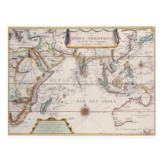 Map of South East Asia Postcard