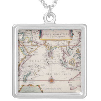 Map of South East Asia Silver Plated Necklace
