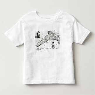 Map of South Pacific Island, 1800 Toddler T-Shirt