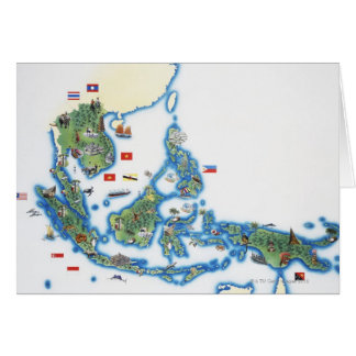 Map of southeastern Asia Card