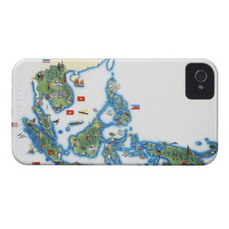 Map of southeastern Asia iPhone 4 Case