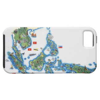 Map of southeastern Asia iPhone 5 Cover