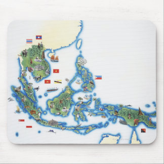 Map of southeastern Asia Mouse Mat