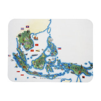 Map of southeastern Asia Rectangular Photo Magnet