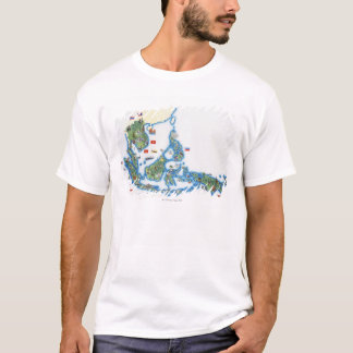 Map of southeastern Asia T-Shirt