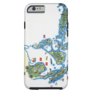 Map of southeastern Asia Tough iPhone 6 Case