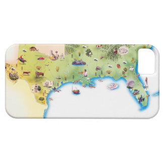 Map of Southern United States of America, with Barely There iPhone 5 Case