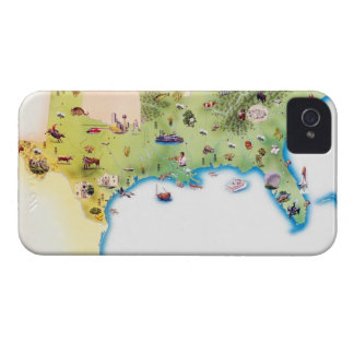 Map of Southern United States of America, with iPhone 4 Case-Mate Case
